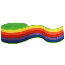 where to buy crepe paper rainbow printed crepe paper streamer