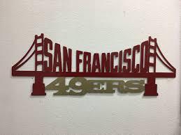 san fransico 49ers metal art niners sign sf sign