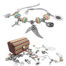 silver plated snake chain bracelet images Justbe charm bracelet making kit diy craft european jpg