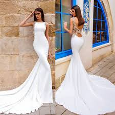 wedding dresses open back mermaid wedding dresses formal gowns open back custom size 4