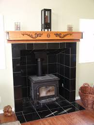 wood burning stove tiles wood stoves tile stone behind wood stove