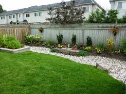 Fence Line Landscaping by Bed Designs Wooden Simple Backyard Landscaping Fence Ideas Fence