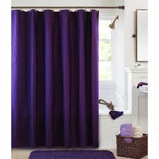 Purple Bathroom Ideas Bathroom Claire Cotton Fabric Shower Curtains For Pretty Bathroom
