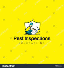 inspections pest vector illustration shape house stock vector