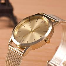 2017 new brand women luxury watch ladies gold stainless steel mesh