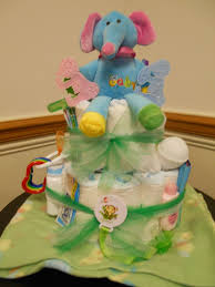 diaper cake for unknown gender baby wagoner january 2014 side