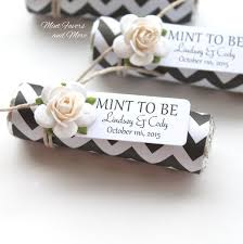 wedding favors in black chevron with a personalized tag unique