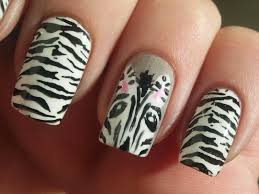 nails zebra design beautify themselves with sweet nails