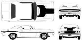 Dodge Challenger 1970 - dodge challenger 1970 blueprint download free blueprint for 3d