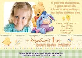 Customized Birthday Invitation Cards Winnie The Pooh Birthday Invitations Kawaiitheo Com