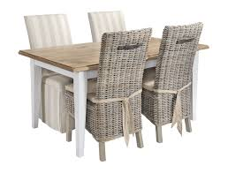 round wicker dining table chairs image rattan room sets