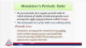 modern periodic table arrangement pgc lectures periodic historical background youtube