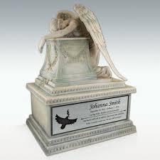infant urn angel cremation urn engravable large