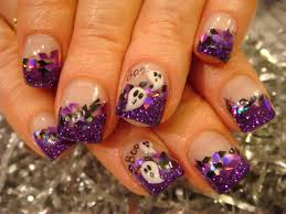purple and black nail designs halloween nail acrylic art class