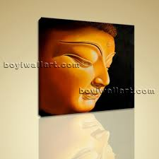 feng shui painting abstract buddha head stately home decor wall