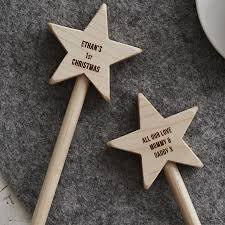personalised baby u0027s first christmas keepsake star wand by sophia