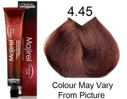 hair color for 45 l oreal professional majirel 4 45 4 cm permanent hair color 50ml
