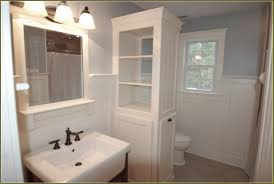 Wainscoting In Bathroom by Bathroom Decoration Using Light Blue Bathroom Wall Paint Including