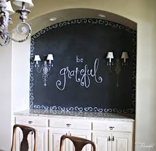 all things beautiful dining room chalkboard wall