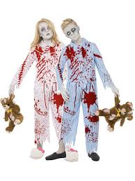 Zombie Halloween Costumes Child Zombie Pyjama Boy Fancy Dress Costume Halloween Undead