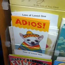 because there s no better way to say goodbye than using this card