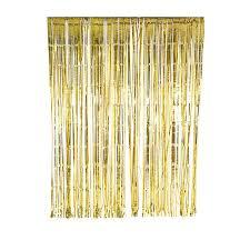 decoration de salle backdrop rideau franges or