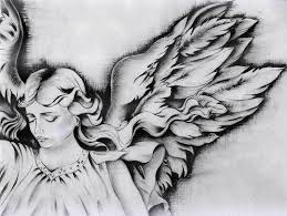 angel wings drawing by monica magallon