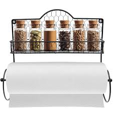 amazon com sorbus paper towel holder spice rack and multi
