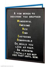 funny humorous u0027brother t u0026cs u0027 birthday greetings card amazon co