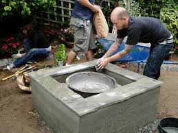 how to make a concrete fire feature how tos diy