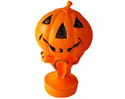 Plastic Lighted Halloween Decorations by Vintage Halloween Jack O U0027 Lantern Blow Mold Plastic