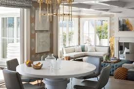 gray round dining table set round white lacquered dining table with gray leather dining chairs