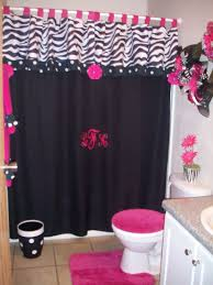 Zebra Print Bathroom Ideas by Amusing 50 Pink And Black Bathroom Theme Design Decoration Of