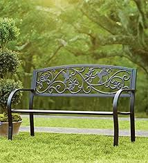 Bench Outdoor Furniture Amazon Com Plow U0026 Hearth Hummingbird Patio Garden Bench Park