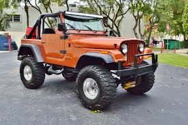 orange jeep wrangler with black rims 1979 jeep cj 7 sport wrangler 4 4 lifted custom suv real muscle