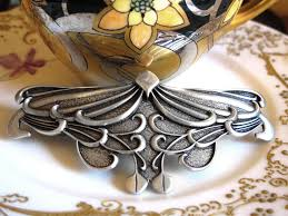 barrette hair clip hair clip barrette hair accessory nouveau leaf oberon