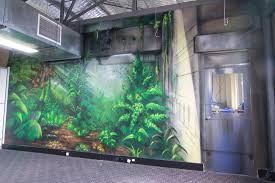 graffiti artist melbourne set it off street artist urban forest interior mural