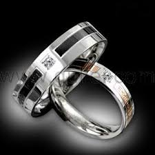 korean wedding rings custom name korean his titanium steel rings set of two