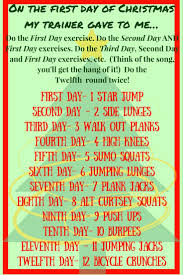 twelve days of christmas workout u2014 well oiled muscles merry