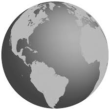 globe clipart grayscale earth globe