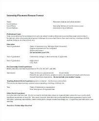internship resume templates summer internship resume template medicina bg info