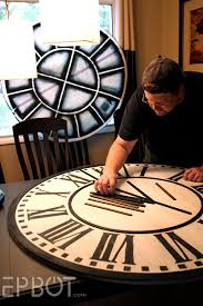 epbot diy giant tower wall clock