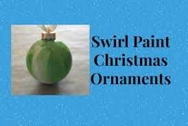 marble swirl paint christmas ornament tutorial easy and