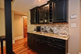 kitchen design magnificent black cabinets built in wet bar ideas