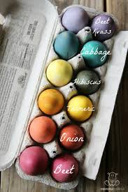 to dye easter eggs naturally