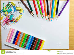frame of colorful supplies and equipment education art