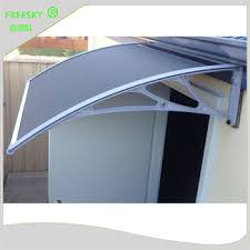2nd Hand Awnings Factory Price Modern Outdoor Polycarbonate Aluminum Black Bracket