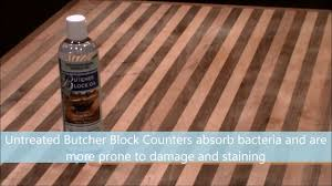 butcher block oil youtube