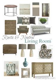 room and board side table rustic neutral living room mood board mood boards neutral and