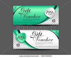 green gift voucher vector illustration green gift voucher template coupon design stock vector hd royalty